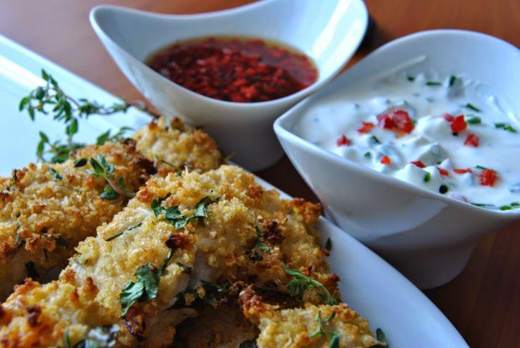 A aventura culinária!: Quadrados de frango e ervas panados no forno