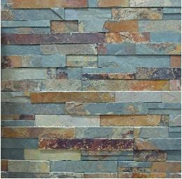 backsplash idea - Copper Rust Random Rectified Slate Tile