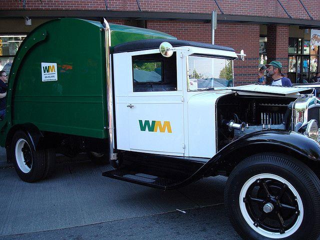 vintage garbage truck