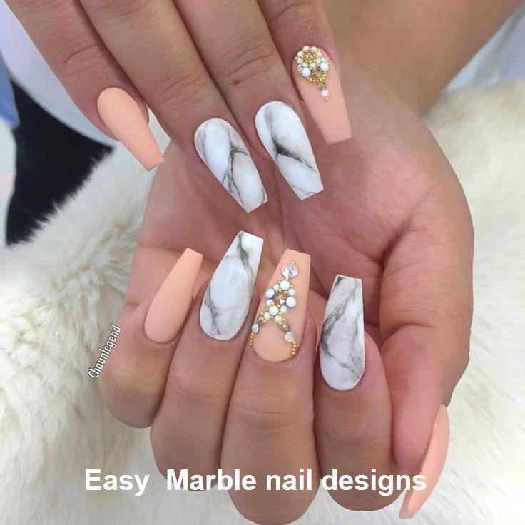 25 Marmornagel Design mit Wasser & Nagellack 2 – 2019 Marble Nail art