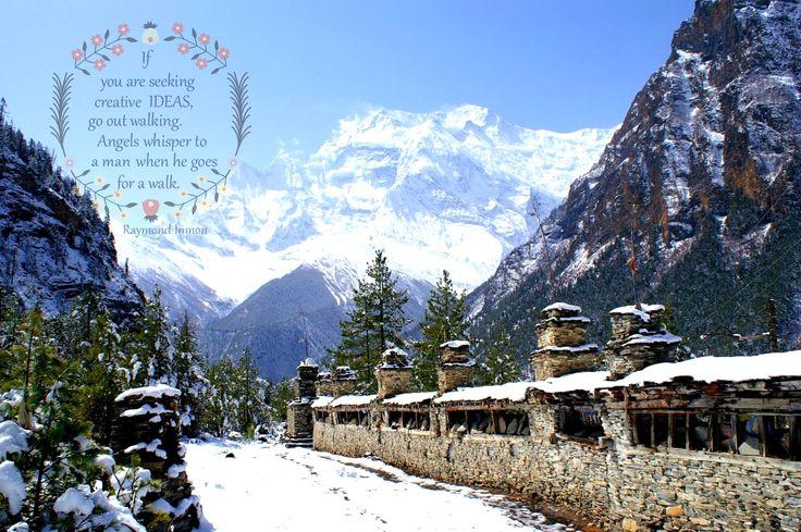 "whisper back... say ""I'm here!""  #wanderlustwednesday #walkwithyeti #nepal #travel #trekking #adventure #holiday #fun #wanderlust"