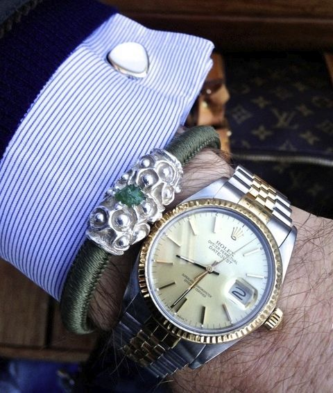 Vintage Rolex Gold/Steel with URU Bangle
