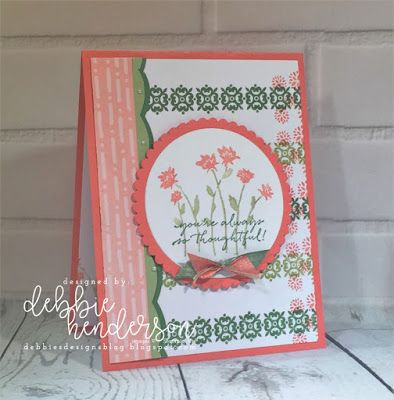Debbie's Designs: Stamparatus Vertical & Horizontal Stamping using Background Bits. Debbie Henderson #stamparatus #debbiehenderson #debbiesdesigns #stampinup #stamparatus #backgroundbits