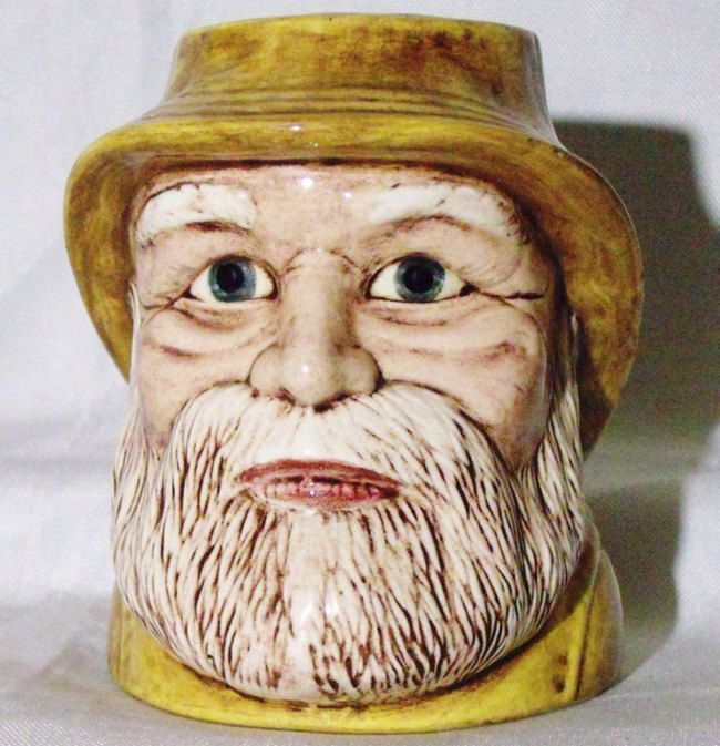 Fisherman Mug Salty Dog Sea Captain Ahab Toby Jug Signed Dated 1975 by KirstenRaye on Etsy