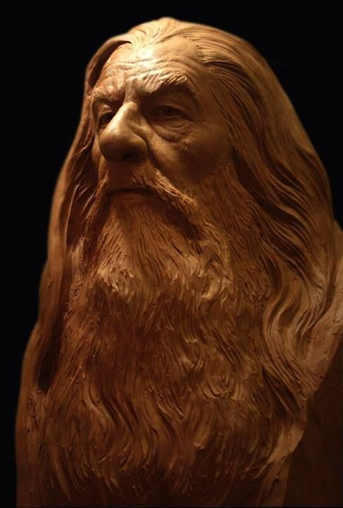 What amazing detail, and so life-like. This has to be a likeness of Gandalf.