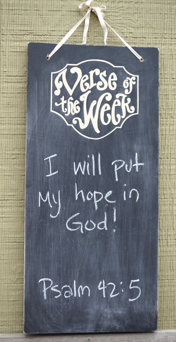 DIY Verse of the Week  Vinyl lettering  Scripture Memory  by kijsa Now turn a chalkboard you already have into a Verse of the week!!!