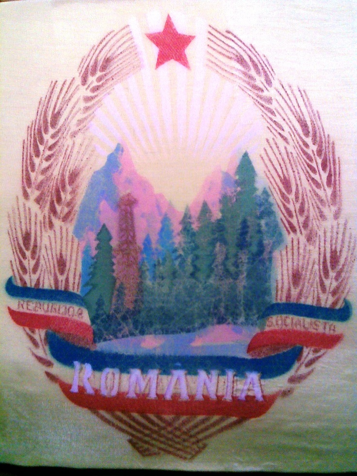 "VINTAGECLOTHINGTIME: Silk flag of my country Romania- As you can see my country has mountains, forests, resources... Sun is shining showing all these wonders to the whole World!  There's a poem that says :""Our mountains are full of gold""..."
