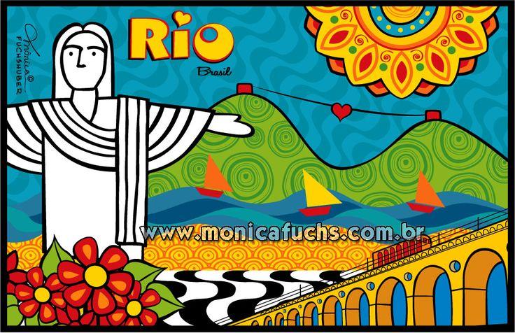 RIO DE JANEIRO - 2014  Quer comprar produtos com essa ilustração? https://www.colab55.com/@monicafuchshuber