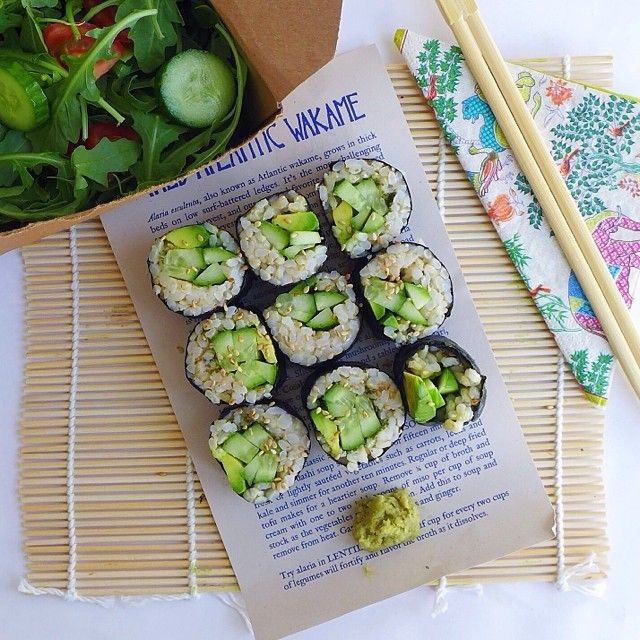 Avocado Cucumber Brown Rice Sushi, vegan // inmybowl.com