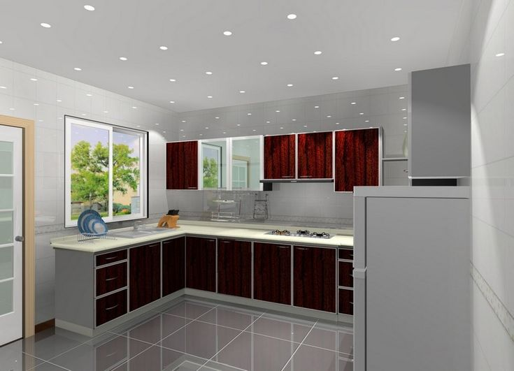 Kitchen, Small Kitchen Cabinet Design With Recessed Lighting Ideas: Beautiful  Kitchen Cabinet Arrangement For Elegant Kitchen