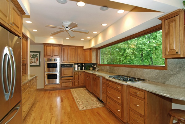 kitchen ceiling fan with can lighting house ideas pinterest