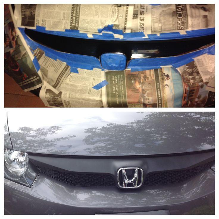Plasti Dip- Front Grille for my Honda Civic 2011