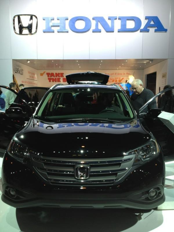Honda CRV. Great showing at the Chicago Auto Show 2012. #HondaCRV #Honda #HondaCars