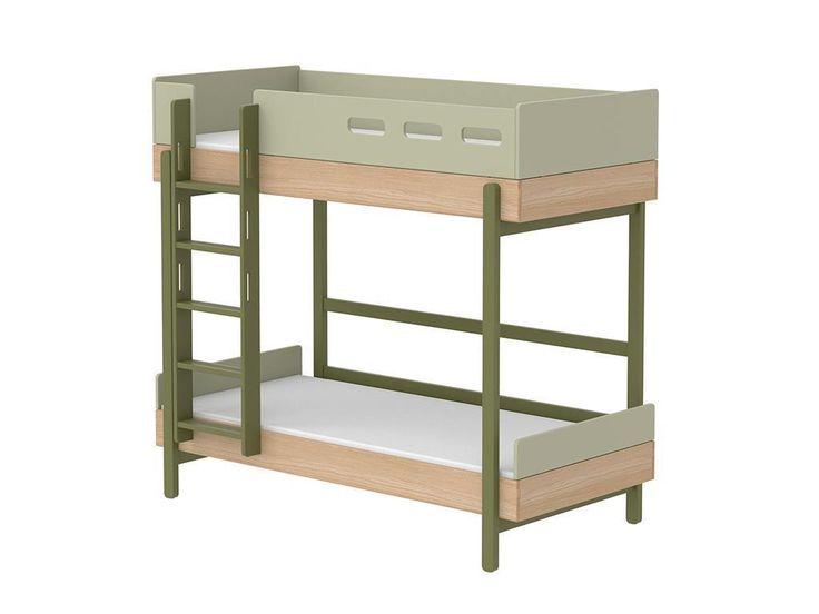 flexa popsicle etagenbett mit gerader leiter kiwi 90x200cm inkl lattenrost 80 24401 31 - Coolste Etagenbetten