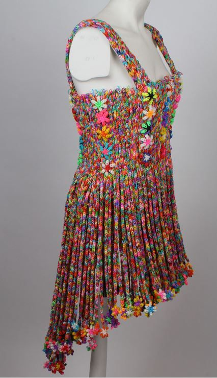 Dress Made From 50 000 Loom Bands Up For Auction In