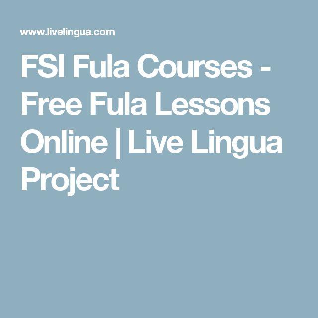 FSI Fula Courses - Free Fula Lessons Online | Live Lingua Project