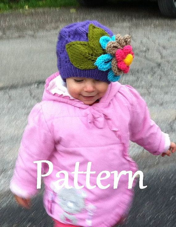 Knitting PATTERN ONLY for The Flower Power Hat $5.00 USD