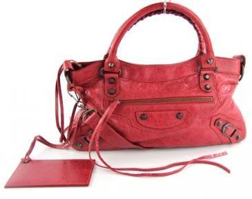 Balenciaga The First In Rouge Cardinal Lambskin -like New $1075