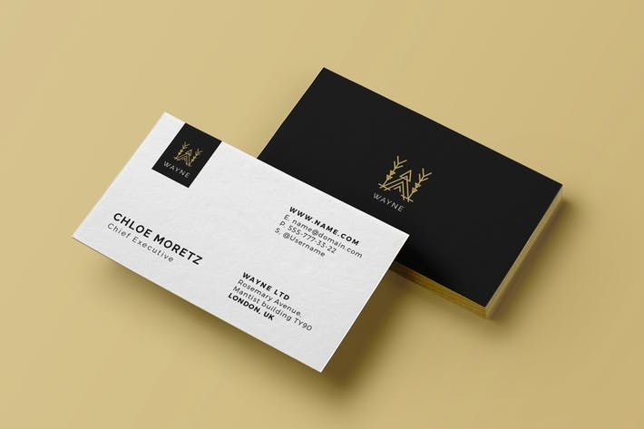 Corporate Business Card Logo By Micromove On Envato Elements Corporate Business Card Business Card Logo Personal Business Cards