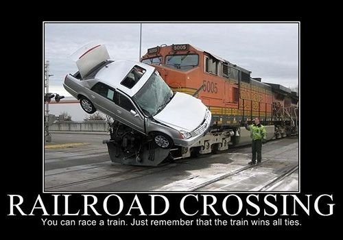 """Funny Railroad Quote  """"OOPS"""""""