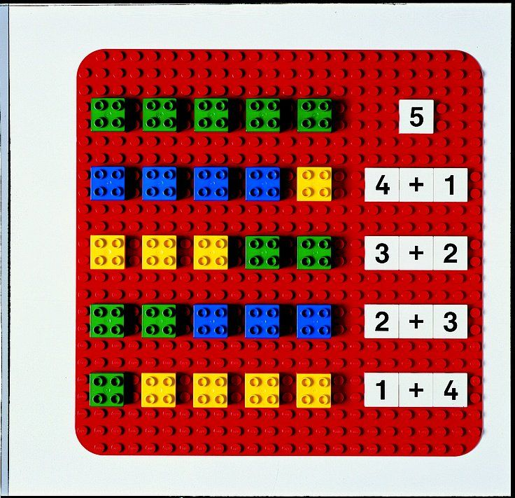 como realizar sumas y restas con legos