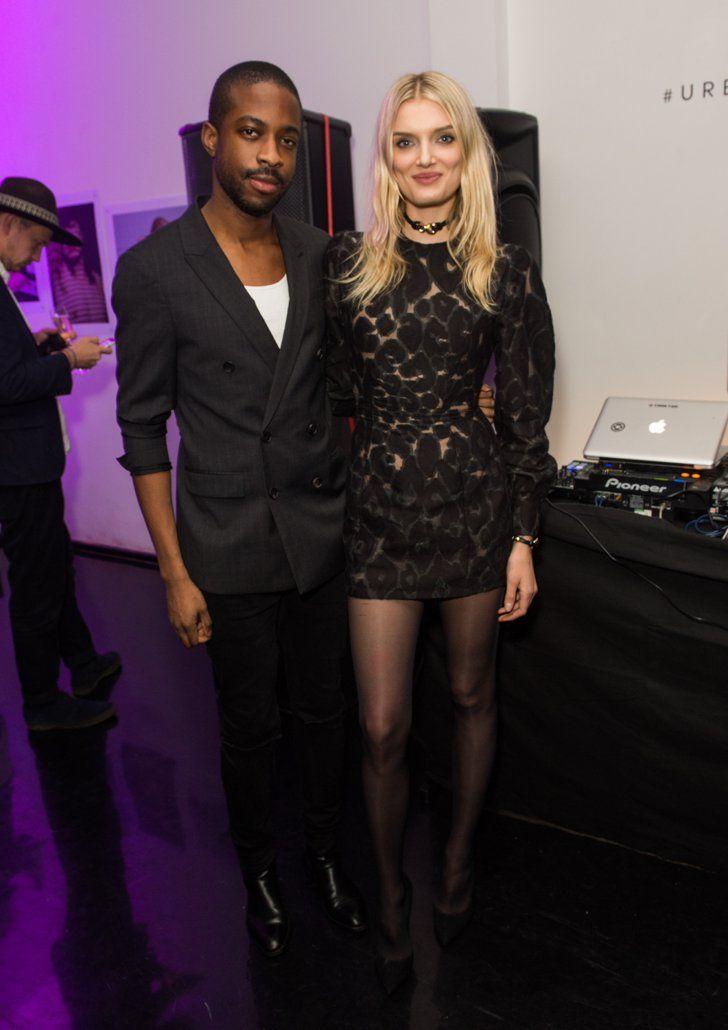 Pin for Later: Londres Attire Beaucoup de Célébrités à la Fashion Week Emmanuel Ezugwu et Lily Donaldson À la soirée Urban Outfitters x Centrefold.