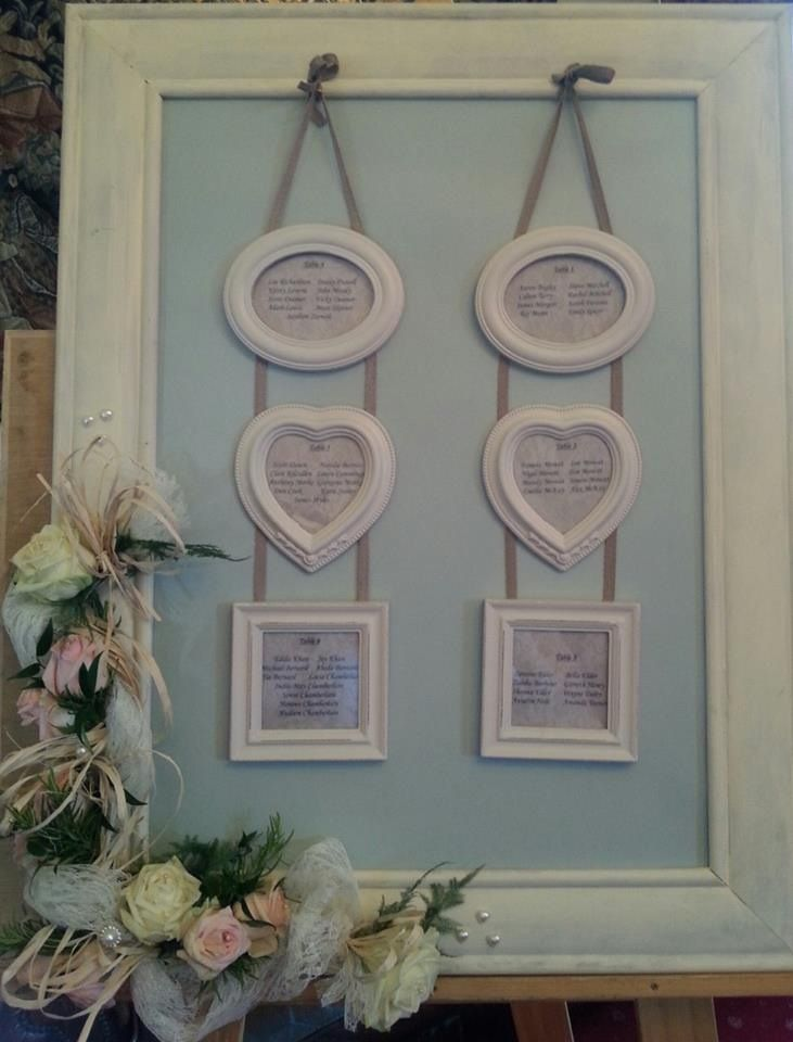 Table plan by Chic Weddings and Events at Eastwell Manor