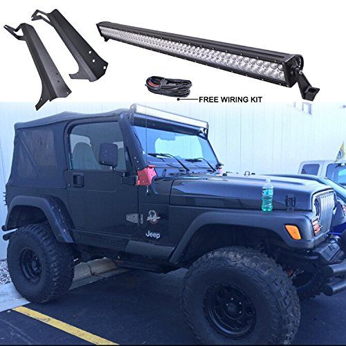 4900d1dbb5cc36681c30d9430153b94f wrangler tj led work light best 25 jeep wrangler light bar ideas on pinterest jeep light  at edmiracle.co
