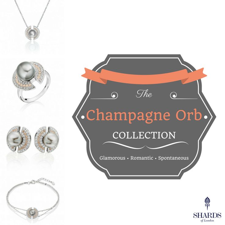 Comprising a necklace, bracelet, earrings and ring, the Champagne Orb Collection represents ardor 😍  👉 www.shardsoflondon.com/champagne-orb   #Jewellery #Jewelry