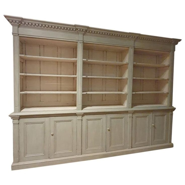 Melton Painted Antique White Bookcase Pine Bookcase Bookcase