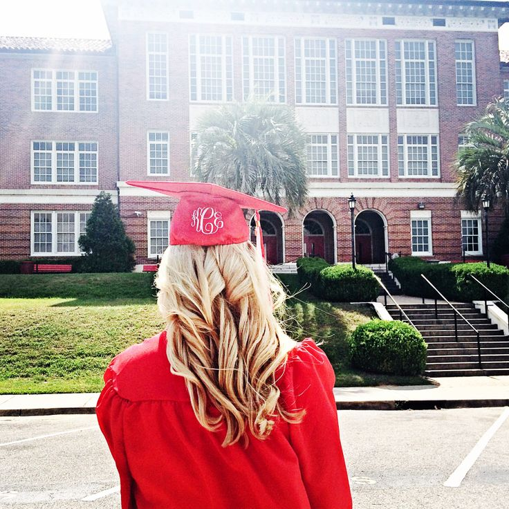 Monogrammed cap and gown :)