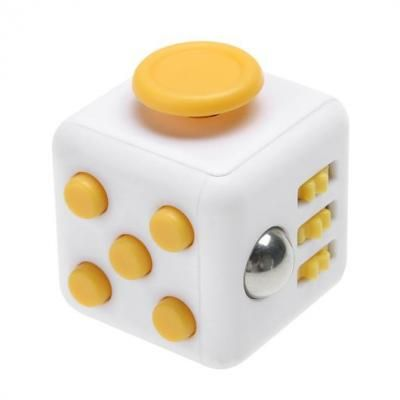 Image of Full Colour Printed Fidget Cube Yellow. Promotional Fidget Box