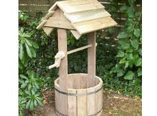 """a garden wooden wishing well ( free plans)...this one ends up being 4'-8"""" tall..2 ft wide."""