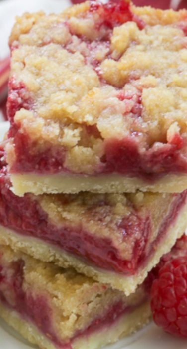 Streusel Topped Raspberry Squares Recipe