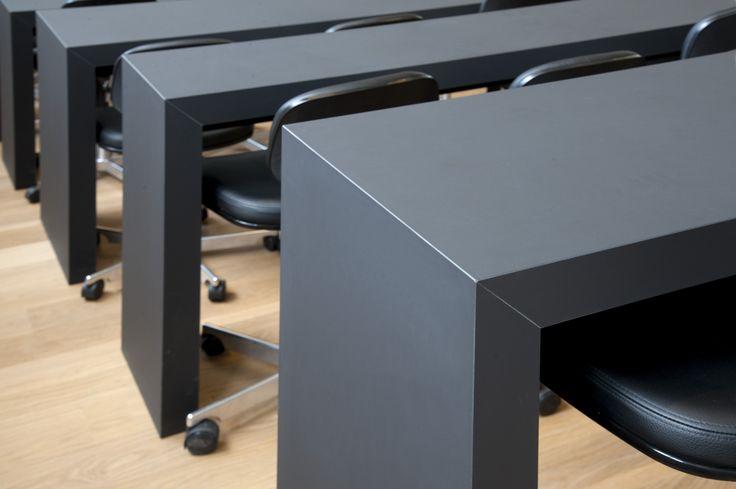 Auditorie DTU – Danmarks Tekniske Universitet – Desk – PO Inventar ¬– Arkitema - surface - Desktop - Furniture Linoleum - Forbo