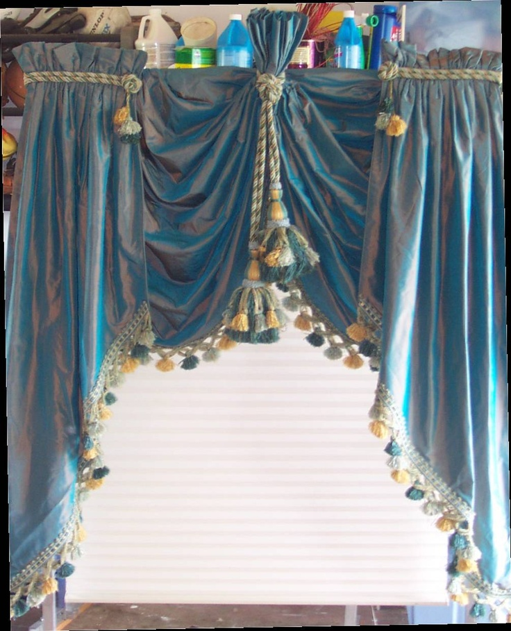 Silk Lifted Swags And Cascades Curtains Valances Pinterest