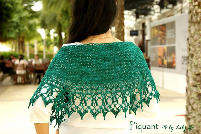 Ravelry: Piquant pattern by Lily Go Pattern $5 - or $18 for book of 4 patterns.