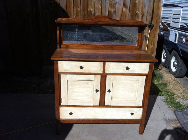 An antique buffet I have recently refinished. I love it!