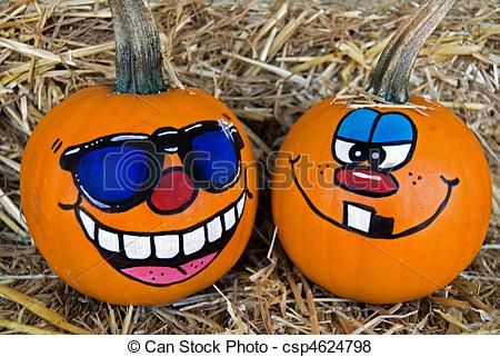 pumpkin funny faces | Pictures of Pumpkin Humor - Funny faces painted on pumpkins csp4624798 ...