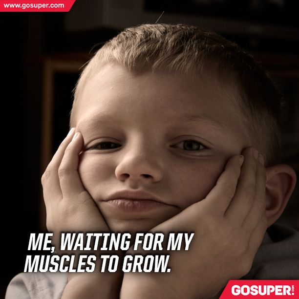 Me, waiting for my muscles to grow. #gosuper #nutrition #supplements #sports #gym #fitness #muscles #fun