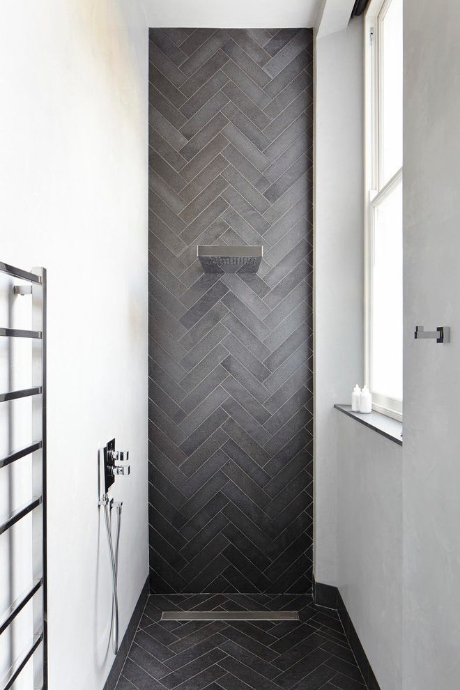Herringbone Tile Pattern Bathroom Contemporary With Herringbone Tile