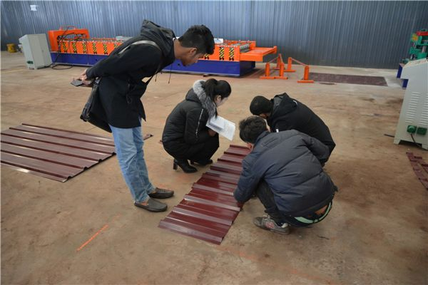 When customer received our #Roof #Panel #Roll #Forming #Machine,install roll forming machine in one level,put coil on decoiler,add hydraulic oil into hydraulic oil pump,it is 46# oil.PLC need connect one line of wire, and hydraulic oil tube,then you can try to let the machine working.If you find any problem in manufacture,please do not hesitate to contact with us.We have professional team service for you.