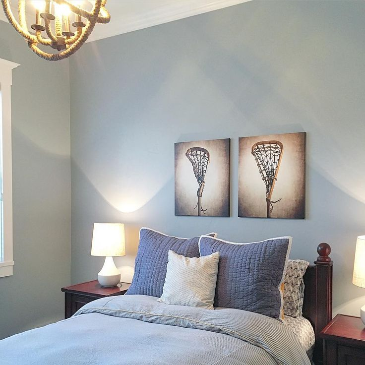 Wall Paint Is Stone Fence By Behr Bedding Serena Amp Lily Paint Colors Blue Pinterest