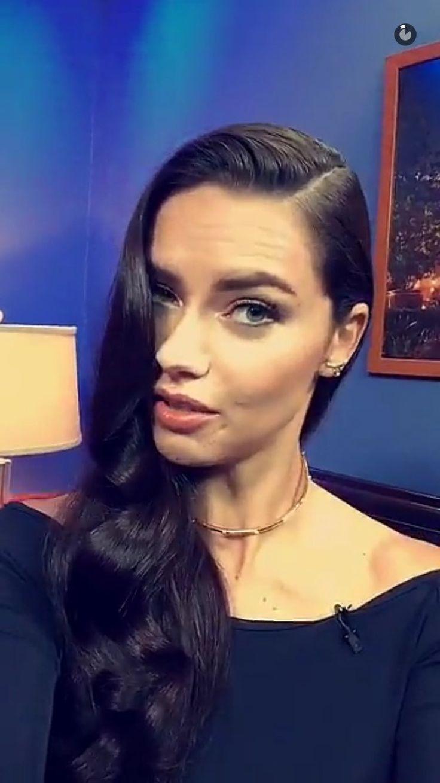 """#NEW - Adriana on the Victoria's Secret Snapchat"""