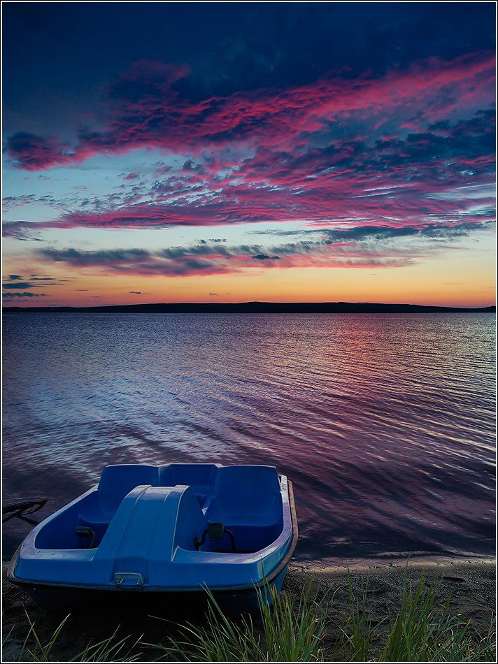 Озеро Беле. Необычное небо - Lake Bele. The unusual sky. Russia. The Republic of Khakassia. Shirinsky district. Author Dmitry Antipov