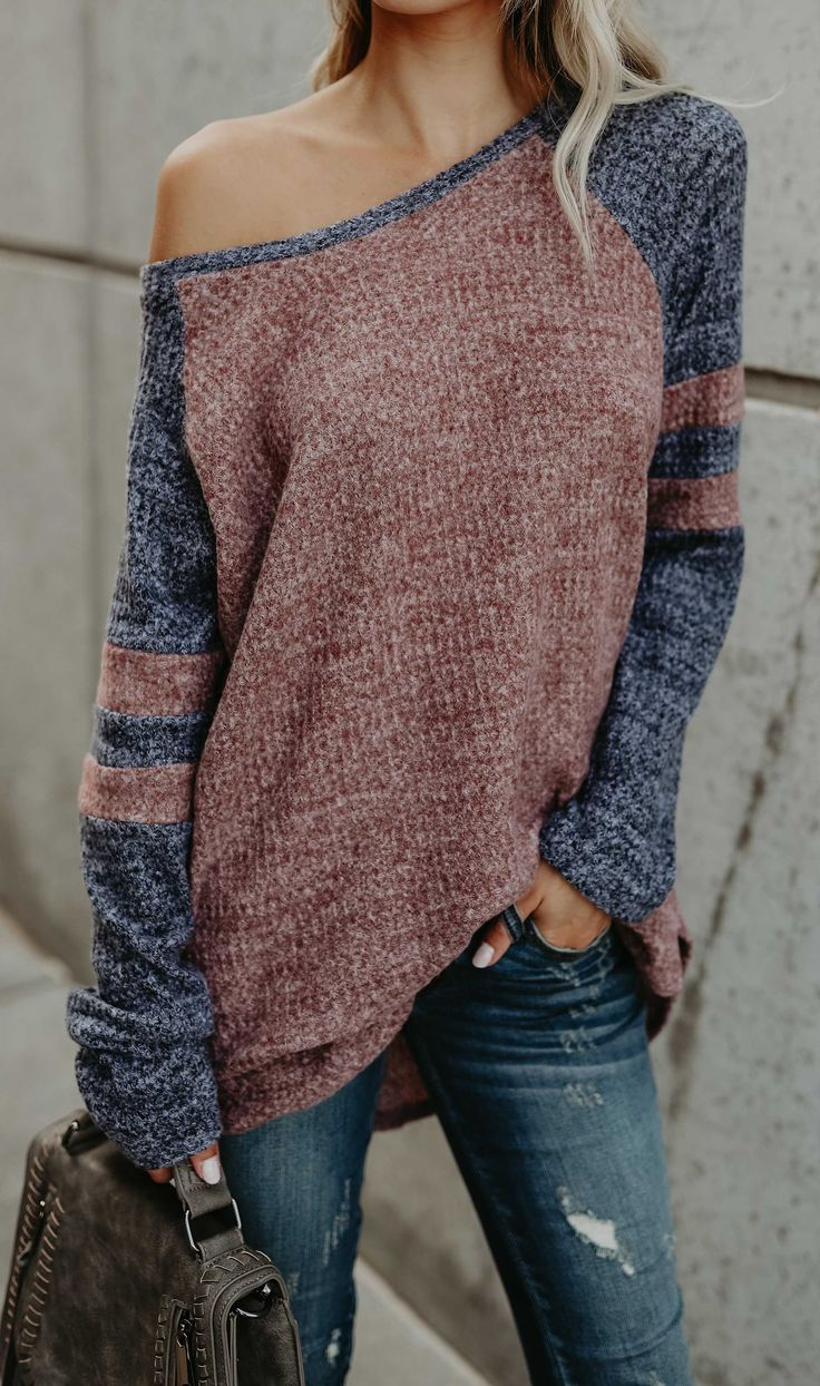 $33.99! Fashion Oversize Casual Sweater fall fashion