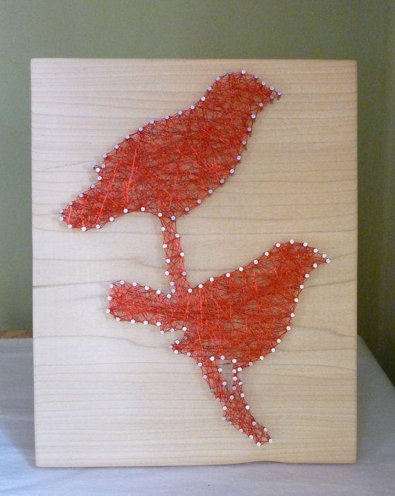 Birds String & Nail Art.