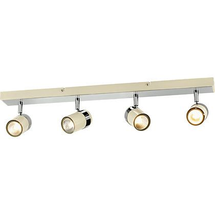 Kitchen Lights Homebase 15 best lighting images on pinterest ceiling lamps ceiling lights heart of house shiro 4 light spotlight bar cream chrome 141592 homebase workwithnaturefo