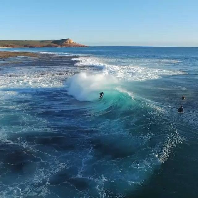 """""""A bird's eye view of the breathtaking #Kalbarri region in @australiascoralcoast, captured by @clip_media_motion. It's easy to see why this stunning part of @westernaustralia, where the Murchison River meets the Indian Ocean, is a favourite holiday playground for many… it's home to a beautiful coastline, soaring river gorges, protected swimming bays and amazing natural attractions such as Nature's Window. Oh, and the weather here is sunny and warm all year round – what's not to love?"""""""