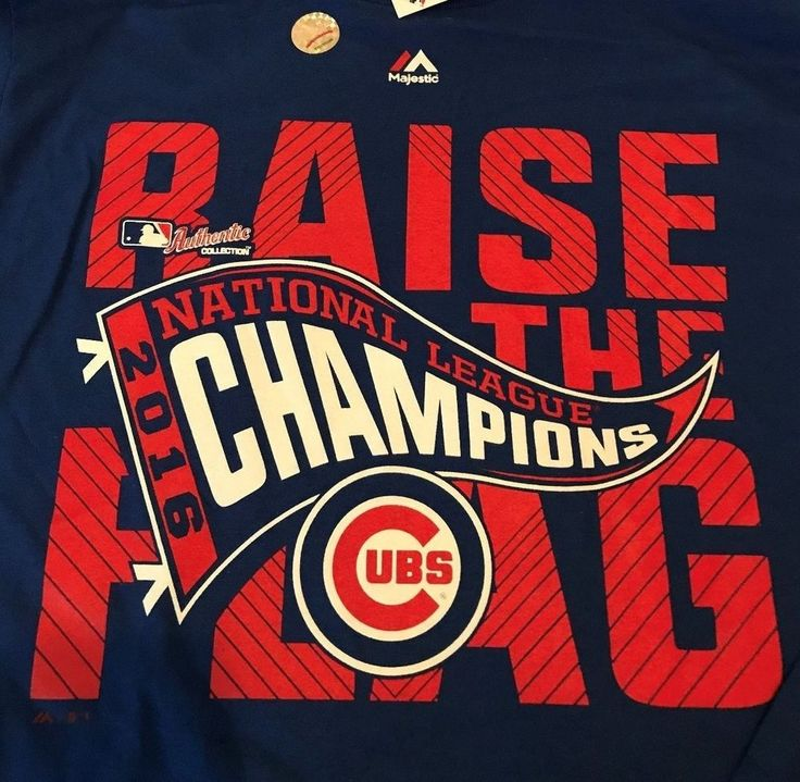 MAJESTIC CHICAGO CUBS 2016 NLCS CHAMPIONS LONG SLEEVE TEE SHIRT Size M NWT MLB #Majestic #ChicagoCubs